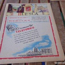 Colecionismo de cartazes: PUBLICIDAD Y MAPA EN PARTE TRASERA MATEU CROMO PROVINCIA DE HUESCA. Lote 162737098