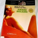 Coleccionismo de carteles: ANTIGUA PUBLICIDAD DE AMBRE SOLAIRE - EXTRAÍDA DE REVISTA 1963 - 31X24CM. Lote 165067690