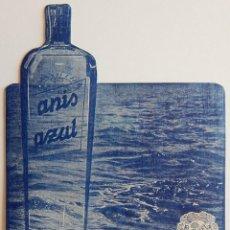 Coleccionismo de carteles: ANTIGUO CARTEL DE MESA / ANÍS AZUL - FINO Y AGRADABLE COMO UNA BRISA (MONTPLET). Lote 165599910
