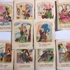 Coleccionismo de carteles: LOTE DE 10 REFRANES ESPAÑOLES. A. BERENGUER-BENEYTO. LABORATORIO FARMACEUTICO. MADRID. . Lote 165615758