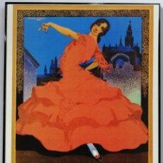 Coleccionismo de carteles: CARTEL FIESTAS DE PRIMAVERA Y SEMANA SANTA SEVILLA, 1924. 41X31 CM. Lote 166540846