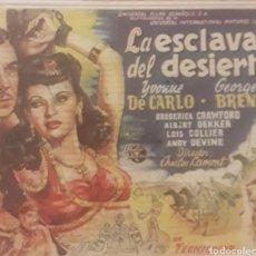 Coleccionismo de carteles: PROGRAMA DE CINE. Lote 166752877