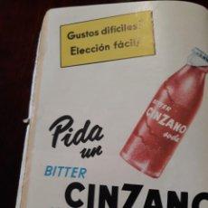 Coleccionismo de carteles: PUBLICIDAD DE ZINZANO AÑO 1955 18 X 15 CM . Lote 167044648