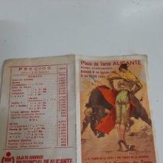 Coleccionismo de carteles: 1986 ALICANTE CORRIDA TOROS CAJA AHORROS DE ALICANTE PRECIOS LUIS FRANCISCO ESPLA JOSELITO. Lote 167848122