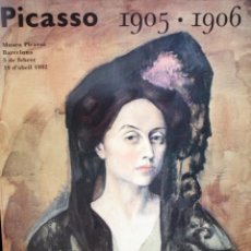 Coleccionismo de carteles: PICASSO 1905-1906. CARTEL DE GRAN FORMATO DEL MUSEO PICASSO. AÑO 1992 . Lote 168027904