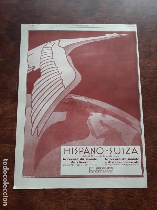 HISPANO - SUIZA AUTOMOBILES ANTIGUOS VOITURE COCHE 3 HOJAS PUBLICIDAD AÑOS 1923-1927 (Coleccionismo - Carteles Pequeño Formato)
