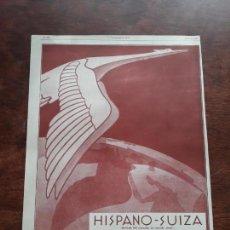 Colecionismo de cartazes: HISPANO - SUIZA AUTOMOBILES ANTIGUOS VOITURE COCHE 3 HOJAS PUBLICIDAD AÑOS 1923-1927. Lote 168199428