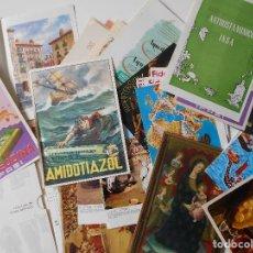 Coleccionismo de carteles: LOTE DE PUBLICIDAD Y LAMINAS DE LABORATORIOS MEDICOS DE LOS AÑOS 50/60. MUY BONITAS. HAY 70. 1200 GR. Lote 168598792