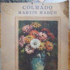 Coleccionismo de carteles: ANTIGUO CARTEL PUBLICITARIO - COLMADO MARTIN MARCH , CAPITAN CASTELL 78 PALMA DE MALLORCA - 29X37CM. Lote 168858408