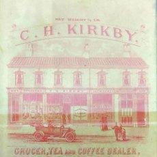 Coleccionismo de carteles: CARTEL PUBLICITARIO DE C.H. KIRKBY. PAPEL IMPRESO. GRAN BRETAÑA. SIGLO XIX. Lote 168927628