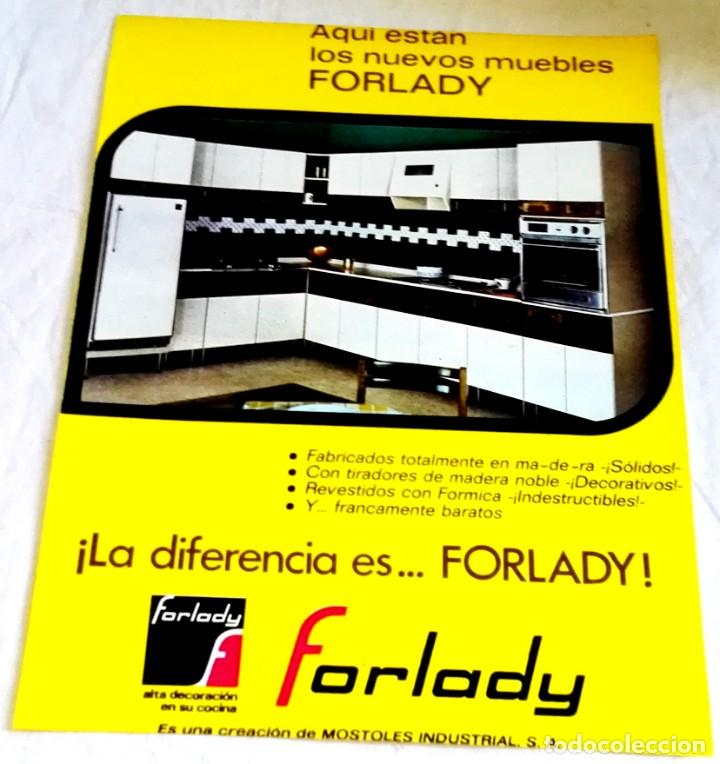 Antigua Publicidad - Muebles De Cocina FORLADY, 1969 - Recorte De 26,5x20cm