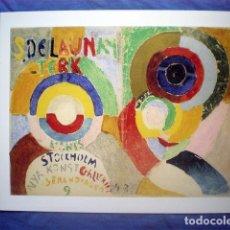 Coleccionismo de carteles: POSTAL GRANDE CARTEL 30X24 SONIA DELAUNAY 1916 AUTORRETRATO MUSEO THYSSEN BORNEMISZA. Lote 169815492