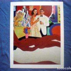 Coleccionismo de carteles: POSTAL GRANDE CARTEL 30X24 TOM WESSELMANN 1963 GRAN DESNUDO AMERICANO MUSEO THYSSEN BORNEMISZA. Lote 169815604