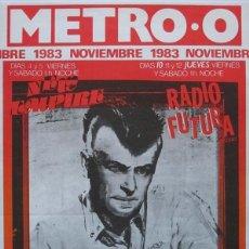 Coleccionismo de carteles: PISTONES / ALAN VEGA. CARTEL CONCIERTO BARCELONA 1983. Lote 170188296