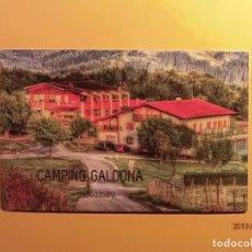 Coleccionismo de carteles: TARJETA VISITA - CAMPING GALDONA - MUTRIKU - GUIPUZCOA. Lote 170352036