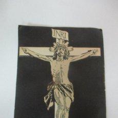 Coleccionismo de carteles: PEQUEÑO CARTEL PUBLICITARIO - ASPIRINA BAYER - CRISTO CRUCIFICADO. Lote 170943900