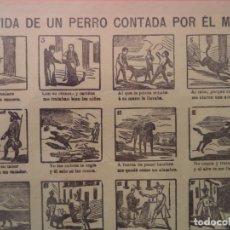 Coleccionismo de carteles: AUCA ALELUYA LA VIDA DE UN PERRO CONTADA POR EL MISMO SUCC DE HERNANDO Nº 112. Lote 171026317