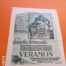 Coleccionismo de carteles: PUBLICIDAD AÑO 1929 - COLECCION MEDICINAS - VERAMON . Lote 171172354