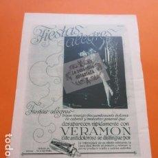Coleccionismo de carteles: PUBLICIDAD AÑO 1929 - COLECCION MEDICINAS - VERAMON . Lote 171172404