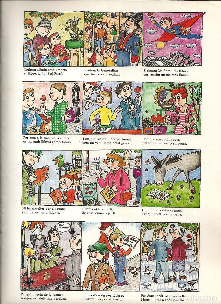 Coleccionismo de carteles: AUCA *DE LA DIADA DEL LLIBRE* ANY 1983, DIBUIX PILARIN BAYÉS, TEXT AURORA DIAZ PLAJA - Foto 2 - 171601154