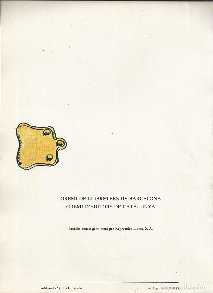 Coleccionismo de carteles: AUCA *DE LA DIADA DEL LLIBRE* ANY 1983, DIBUIX PILARIN BAYÉS, TEXT AURORA DIAZ PLAJA - Foto 4 - 171601154