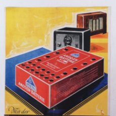 Collectionnisme d'affiches: ANODEN BATTERIE, OSKAR BOTTCHER BERLIN AÑOS 30. Lote 172278382
