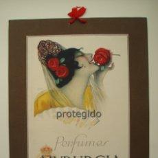Coleccionismo de carteles: ANTIGUO CARTEL PUBLICITARIO. PERFUMES MYRURGIA. BARCELONA, ESPAÑA. FIRMADO JENER.. Lote 172374769