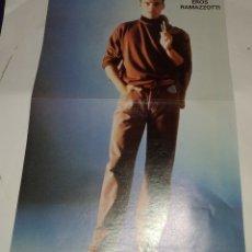 Coleccionismo de carteles: POSTER EROS RAMAZZOTTI - VICKY LARRAZ. POPCORN. 28 × 41. Lote 172796399