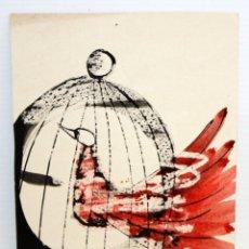 Coleccionismo de carteles: FELICITACIÓN DE NAVIDAD - 1959 - JAULA Y PAJARO.. Lote 172969458