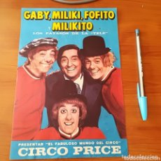 Coleccionismo de carteles: CARTEL CIRCO PRICE. Lote 172980804