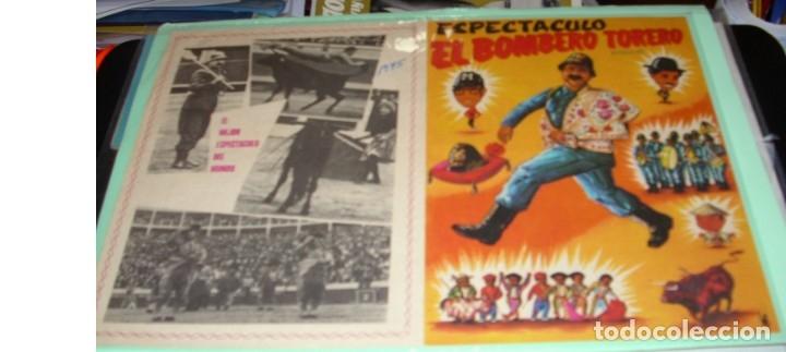 ESPECTÁCULO EL BOMBERO TORERO, DOBLE PG- HUESCA 1975- ORIGINAL MUY BONITO-IMPORTANTE LEER DECRIPCION (Coleccionismo - Carteles Pequeño Formato)