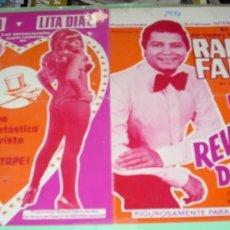 Coleccionismo de carteles: RAFAEL FARINA Y LAS REVOLTOSAS DEL DESTAPE, ORIGINAL 1976, DIFICIL DE ENCONTRAR-LEER DESCRIPCION. Lote 172998584