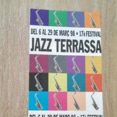 Coleccionismo de carteles: CARTEL DÍPTICO FESTIVAL JAZZ DE TERRASSA. Lote 173204092