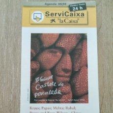 Coleccionismo de carteles: CARTEL DÍPTICO FESTIVAL DE PERALADA 1998. Lote 173228645