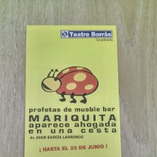 Collezionismo di affissi: CARTEL TRÍPTICO «MARIQUITA APARECE AHOGADA EN UNA CESTA » JUNIO 2002. Lote 173466475