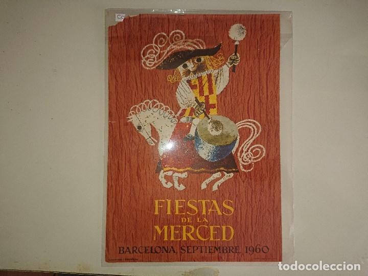 CARTEL PEQUEÑO FIESTAS DE LA MERCED 1960 (Coleccionismo - Carteles Pequeño Formato)