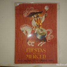 Coleccionismo de carteles: CARTEL PEQUEÑO FIESTAS DE LA MERCED 1960. Lote 173508084