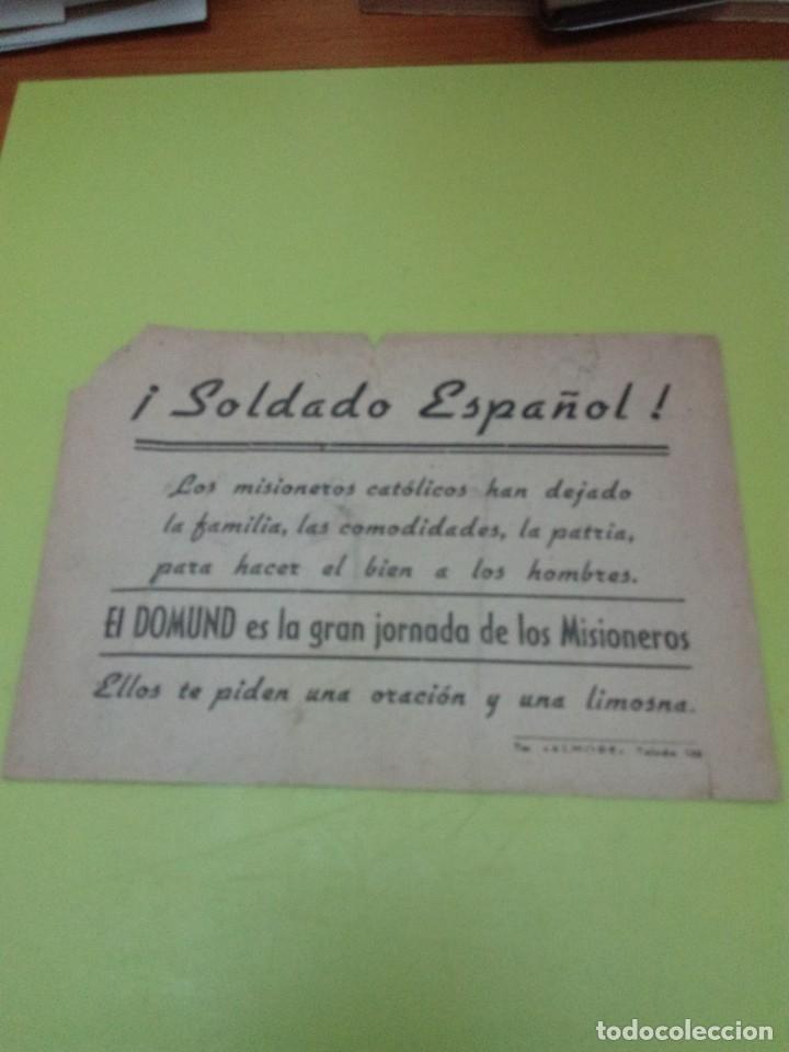 EL DOMUND. ES LA GRAN JORNADA DE LOS MISIONEROS. ... C7CR (Coleccionismo - Carteles Pequeño Formato)