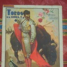 Coleccionismo de carteles: 1935 CARTEL TOROS EN HUELVA EMPRESA GALLANGO GRAN SEMANA COLOMBINA DOS CORRIDAS . Lote 173723203