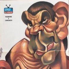 Coleccionismo de carteles: FAEMINO Y CANSADO. POSTER EL JUEVES. AUTOR: VIZCARRA. DOBLE HOJA : 41,7 X 27,8 CM (CARICATURA. HUMOR. Lote 173916080