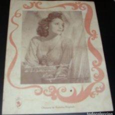 Coleccionismo de carteles: CELIA GAMEZ, BONITA FOTO CON FIRMA QUE NO IDENTIFICO, ATRÁS PARTITURA DE !MIRAME!-ORIGINAL. Lote 174166043