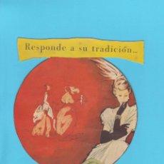 Coleccionismo de carteles: RESPONDE A SU TRADICIÓN... DISPLAY PUBLICITARIO DE CARTÓN. JABÓN FLORES DE PRAVIA.. Lote 174306089