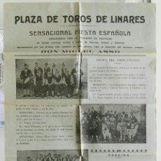 Coleccionismo de carteles: CARTEL FESTEJOS.PLAZA DE TOROS DE LINARES.AÑOS 20. Lote 175439317