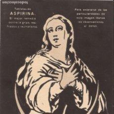 Coleccionismo de carteles: CARTEL PUBLICIDAD ASPIRINA BAYER. Lote 231174330