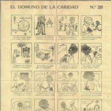 Coleccionismo de carteles: AUCA *EL DOMUND DE LA CARIDAD* - Nº 28 - RUIZ DE LA PRADA. Lote 176087430
