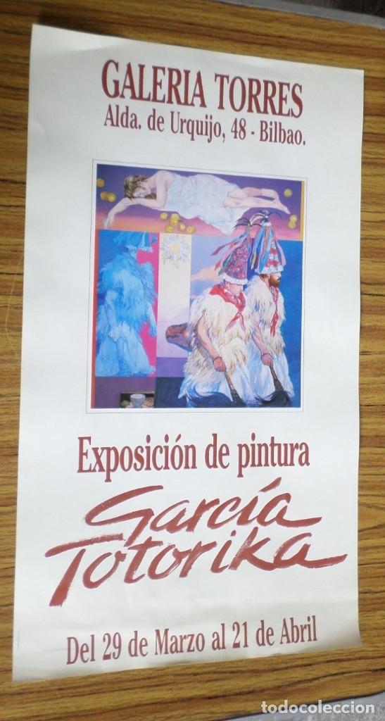 CARTEL EXPOSICIÓN PINTURA // GALERÍA TORRES // GARCÍA TOTORRICA (Coleccionismo - Carteles Pequeño Formato)