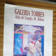Coleccionismo de carteles: CARTEL EXPOSICIÓN PINTURA // GALERÍA TORRES // GARCÍA TOTORRICA. Lote 176216478