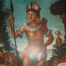 Coleccionismo de carteles: LOTE DE TRES LÁMINAS Y TRES POSTALES PERSONAJES Y MESTIZAJE AMÉRICA ESPAÑOLA , MUSEO DE AMERICA. Lote 176469144