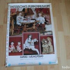 Coleccionismo de carteles: POSTER HESSISCHES PUPPENMUSEUM HANAU-WILHELMSBAD 50X70. Lote 176487203