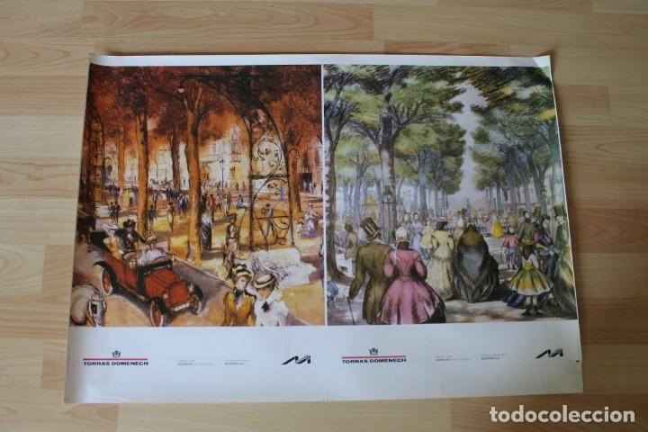 POSTER CON DOS LAMINAS TORRAS DOMENECH MONTPER (Coleccionismo - Carteles Pequeño Formato)